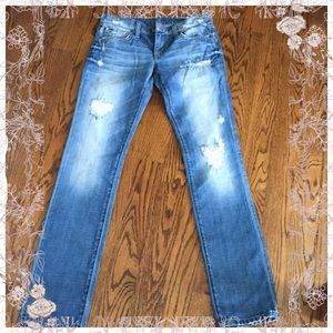 """Awesome patched Joe's jeans, """"best friend"""" fit, 25"""